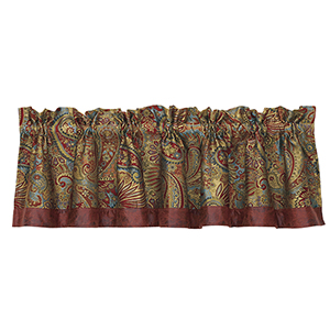 San Angelo Paisley Multicolor 84 x 18-Inch Valance