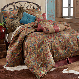 San Angelo Multicolor Super King Four-Piece Comforter Set