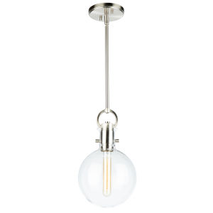 Single Satin Nickel 14-Inch One-Light Mini Pendant