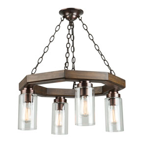 Jasper Park Brunito Bronze Four-Light Chandelier