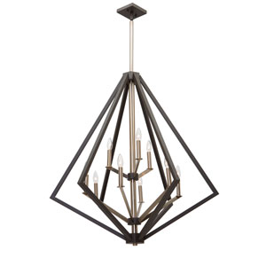 Breezy Point Bronze Nine-Light Chandelier