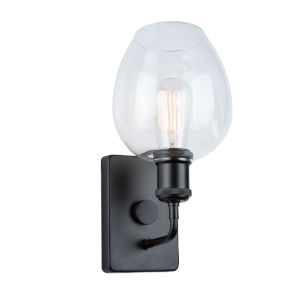 Clearwater Semi Gloss Black One-Light Wall Sconce
