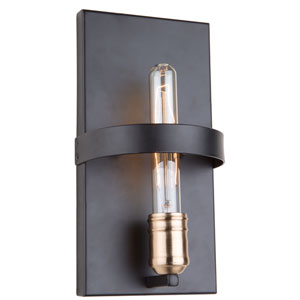 Willow Dark Bronze and Vintage Brass One-Light Wall Sconce