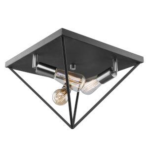 Artistry Polished Nickel Three-Light Flush Mount