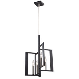 Sutherland Black and Brushed Nickel 22-Inch Four-Light Pendant