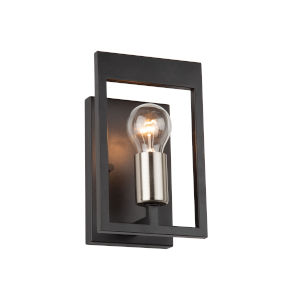 Sutherland Black and Brushed Nickel One-Light Wall Sconce