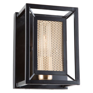Chadwick Dark Bronze and Satin Brass One-Light Wall Sconce