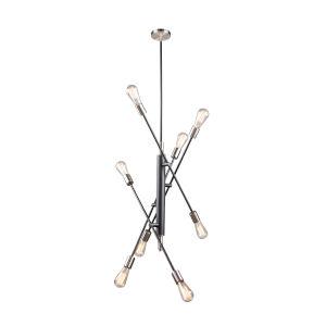 Truro Black and Brushed Nickel Eight-Light Pendant