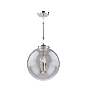 Alexandria Polished Nickel Three-Light Pendant