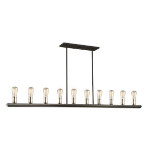 Sandalwood Brushed Nickel 14-Inch 10-Light Island Pendant