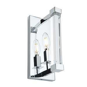 Carlyle Chrome One-Light Wall Sconce