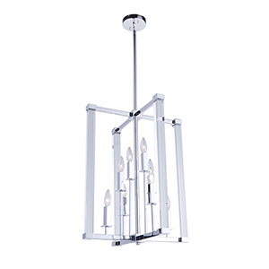 Carlyle Chrome Eight-Light Chandelier