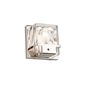 Wiltshire Polished Nickel One-Light Bath Vanity