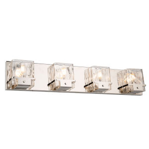 Wiltshire Polished Nickel Four-Light Bath Vanity
