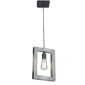 Gatehouse Beach Wood and Black One-Light Mini Pendant
