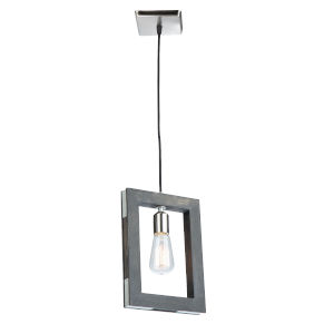 Gatehouse Dark Pine and Brushed Nickel One-Light Mini Pendant