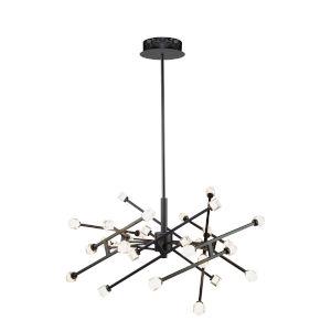 Batton Black 30-Light LED Pendant
