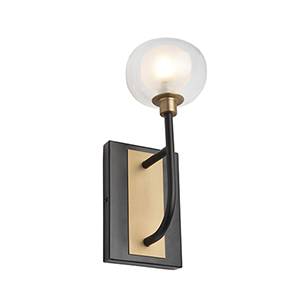 Grappolo Matte Black and Vintage Gold LED Wall Sconce
