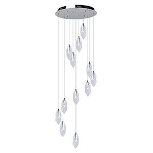 Doccia Chrome 12-Light LED Chandelier