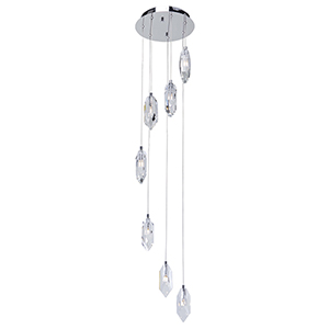 Doccia Chrome Seven-Light LED Chandelier