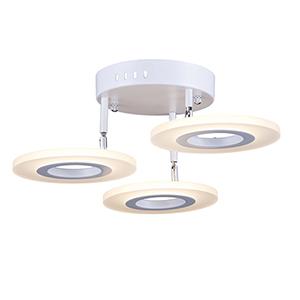 Phoenix White Three-Light LED Semi Flushmount
