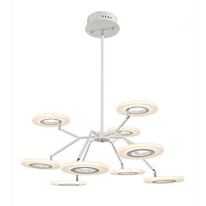 Phoenix White Nine-Light LED Chandelier