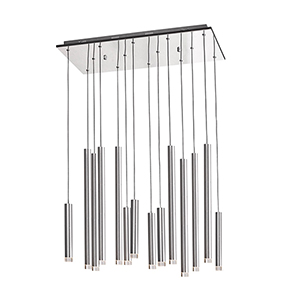 Galiano Satin Aluminum 14-Light LED Pendant