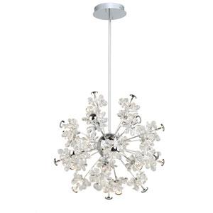 Blossom Chrome 25-Light LED Pendant