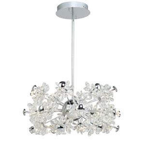 Blossom Chrome 19-Light LED Pendant