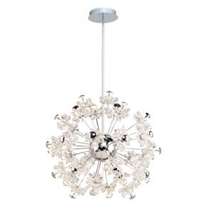 Blossom Chrome 37-Light LED Pendant