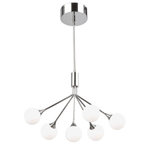 Luna Chrome Six-Light LED Chandelier