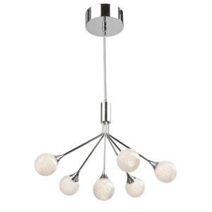 Odyssey Chrome Six-Light LED Chandelier