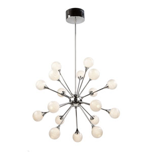 Odyssey Chrome 18-Light LED Pendant