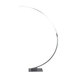 Cortina Brushed Gray LED Floor Lamp