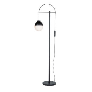 Cortina Matte Black One-Light Floor Lamp