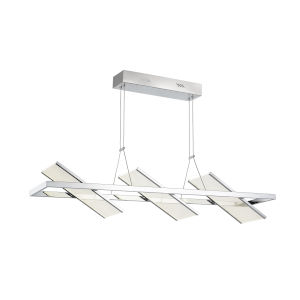 Palo Alto Chrome Three-Light LED Island Pendant
