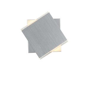 Task Brushed Aluminum Two-Light LED Wall Sconce