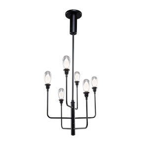 Bimini Black 27-Inch LED Outdoor Semi-Flush Mount