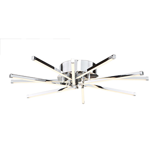 Shooting Star Chrome 10-Light LED Flush Mount
