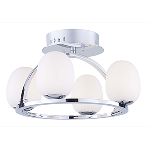 Meridian Chrome Four-Light LED Flush Mount