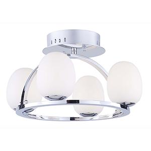 Meridian Chrome Four-Light LED Flush Mount