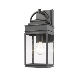 Fulton Black 14-Inch One-Light Outdoor Wall Light