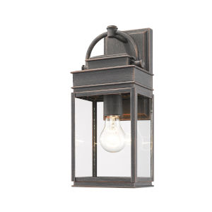 Fulton Oil Rubbed Bronze 14-Inch One-Light Outdoor Wall Light