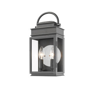 Fulton Black 13-Inch Two-Light Outdoor Wall Light