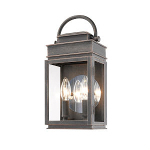 Fulton Oil Rubbed Bronze 13-Inch Two-Light Outdoor Wall Light