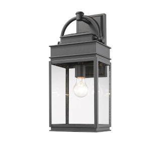 Fulton Black 20-Inch One-Light Outdoor Wall Light