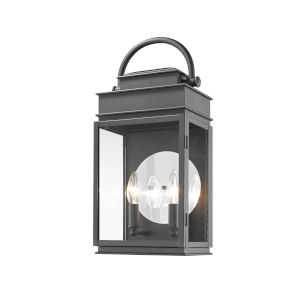 Fulton Black 19-Inch Two-Light Outdoor Wall Light