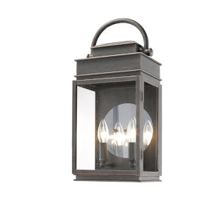 Fulton Oil Rubbed Bronze 19-Inch Two-Light Outdoor Wall Light