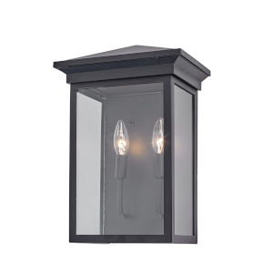 Gable Black Two-Light Outdoor Wall Light