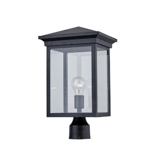 Gable Black One-Light Outdoor Post Light